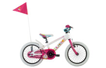 Cube Kid 160  velo enfant rose/blanc